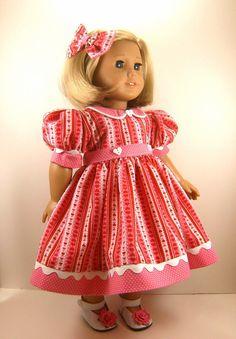 American Girl Doll Clothes 18 Inch Doll Dress by dressurdolly2