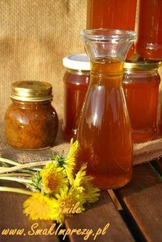 Miód z mniszka - przepis Olgi Smile Sweet Jars, Yummy Mummy, Hot Sauce Bottles, Preserves, Natural Remedies, Good Food, Food And Drink, Honey, Herbs