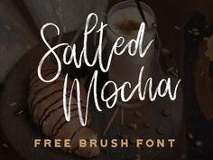 Salted Mocha - Free brush font