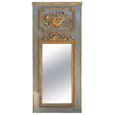 Louis XVI Trumeau | From a unique collection of antique and modern trumeau mirrors at http://www.1stdibs.com/furniture/mirrors/trumeau-mirrors/