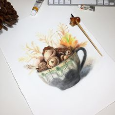 "8,919 Likes, 24 Comments - Watercolor illustrations 🎨 (@watercolor.illustrations) on Instagram: ""🎨 Watercolorist: @elena_risovayka #waterblog #акварель #aquarelle #painting #drawing #art #artist…"""