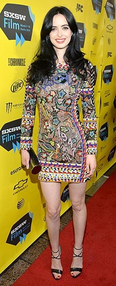 Krysten Ritter wears Emilio Pucci at the Veronica Mars premiere at SXSW 2014