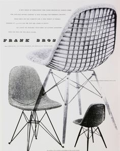 Vintage Furniture Ads of the 1950s - I remember this chair well - still around in different forms.