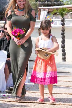 Destination Wedding Photographer || Hannah Hardaway || Punta Mita, Mexico Wedding || Casual Beach Wedding || Mexican Themed Colorful Wedding || Beach Ceremony || Wedding Party || Flower Girl || www.hannahhardawayphoto.com