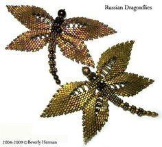 DIY idea to steampunk dragonfly peyote patterns