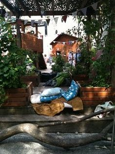 Quite space -Creating quiet spaces outdoors-  Natural spaces are calming for children (and adults too)