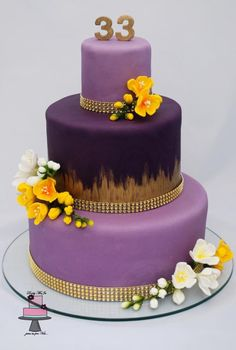 Gold, violet and freesia...