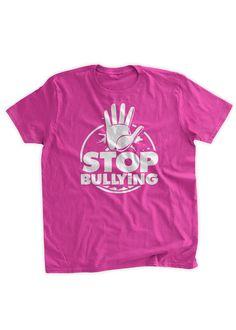 Stop Bullying T-shirt Anti Bullying Tshirt Pink by BumpCovers