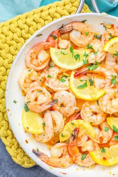 If you love shrimp, you need The Best One Pot Lemon Garlic Butter Shrimp Recipe Ever – quick, easy, and bursting with delicious flavor that is perfect over p. Shrimp Salad Recipes, Shrimp Recipes For Dinner, Easy Chicken Recipes, Shellfish Recipes, Seafood Recipes, Sweet And Spicy Shrimp, Lemon Garlic Butter Shrimp, Buttered Shrimp Recipe, Low Calorie Salad
