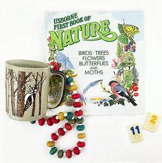 Vintage 1980s Nature Book Woodpecker Coffee Mug by ChapsAndRascal
