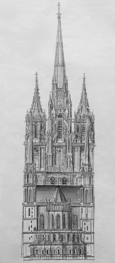 Cathedral in Magdeburg – architectural collage – Zeichnungen - architecture house Sketchbook Architecture, Gothic Architecture Drawing, Collage Architecture, Cathedral Architecture, Ancient Greek Architecture, Architecture Graphics, Classic Architecture, Magdeburger Dom, Gothic Drawings