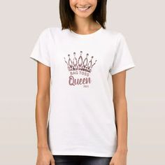 Let them know you're the Bag Toss Queen with this cute custom shirt featuring a chic and trendy rose gold glitter crown. Personalize it with your own phrase and date. Feel free to contact me if you need help or a custom order.
