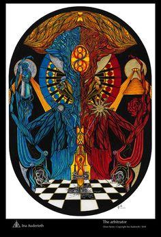 Ina Auderieth - Tarot and symbolic Art from Austria. Tarot interpretations and Webshop - limited Fine Art Prints, Shirts and Bags The Emperor Tarot, Tarot Interpretation, Air Symbol, Nature Symbols, Symbolic Art, Eldritch Horror, Esoteric Art, Occult Art