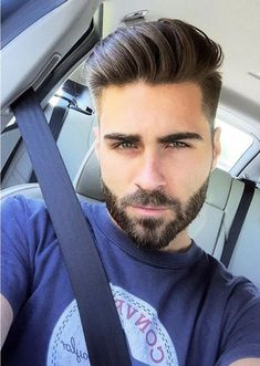 Popular Haircuts For Short Hair Men Medium Beard Styles, Beard Styles For Men, Hair And Beard Styles, Beard Look, Sexy Beard, Popular Haircuts, Haircuts For Men, Short Hair Lengths, Short Hair Styles