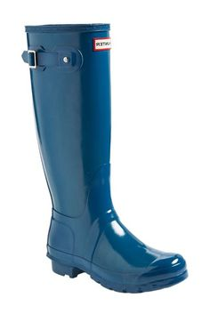 Free shipping and returns on Hunter Original High Gloss Boot (Women) at Nordstrom.com. Comfort and quality combine in a glossy, water-tight rubber boot finished with a traction-gripping sole. A subtle tonal design circles the top, while an adjustable buckle at the side adds interest.