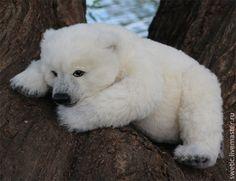 Купить Белый медвежонок Filippo - белый, медвежонок, медведь, тедди, реалистичный, живой, альпака