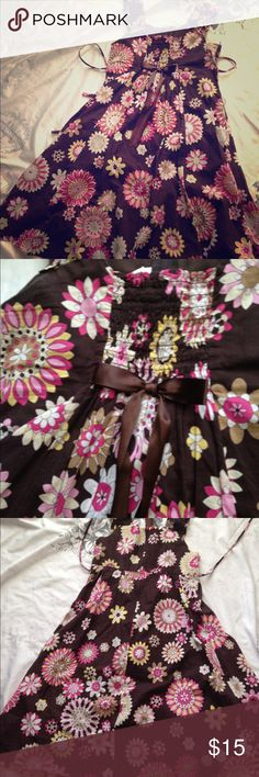 Girls Bonnie jean size 10 Brown floral pattern bonnie jean girls dress, under knee length. Bonnie Jean Dresses Casual