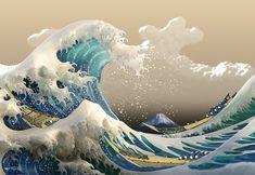 Katsushika Hokusai Great Wave Crests .. This Man/ Painting School amazing ...
