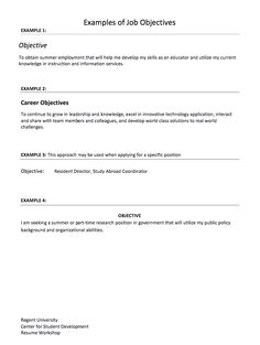 Career Objective Statement Examples Captivating 55 Best Career Objectives Images On Pinterest  Admin Work .