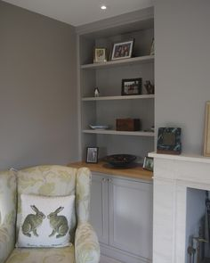 Beautiful Alcove Cupboard and Shelving Unit Alcove Storage Living Room, Built In Cupboards Living Room, Bedroom Alcove, Alcove Shelving, Living Room Built Ins, Living Room Shelves, Living Room With Fireplace, New Living Room, Alcove Bookshelves