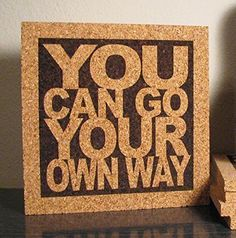 Beatles Lyric Art Wall Hanging - Cork Trivet - Wall Decor - Take These Broken Wings And Learn To Fly - JukeBlox Typography Hot Pad Eric Clapton, Cork Trivet, Cork Wall, Cheap Trick, Lyric Art, Song Lyrics, Silence Lyrics, Kitchen Wall Art, Thoughts