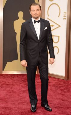 The main man Leonardo DiCaprio looking suave in a tradition tux at the Oscars #TuxedoWatch