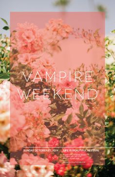 Vampire Weekend Poster from the Life Is Beautiful Festival 2014