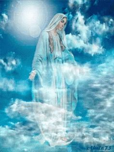 Our Lady Queen of Heaven Jesus Mother, Blessed Mother Mary, Blessed Virgin Mary, Image Jesus, Jesus Christ Images, Angel Pictures, Jesus Pictures, Religious Pictures, Religious Art