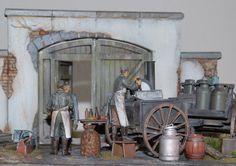 """Heeresfeldwagen """"Große Feldküche Hf.13"""" mit Vorderwagen Hf. 11 Tamiya 35247 - Diorama-Set """"Feldküche HF.13"""" Maßstab: 1:35 Einzelteile: 103 Länge: 200mm"""