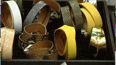 Leighelena Designs - We're in LOVE with these cuffs made in Austin, TX! Watch this interview with the designer.