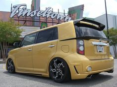 Scion xB Hatch Garnish Carbon Fiber / Chrome 08-13
