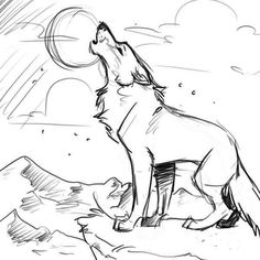 Howling wolf drawing |coloring pages for adults, coloring pages ...