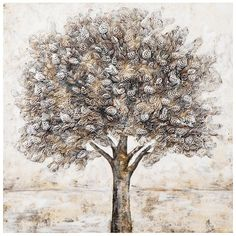 Trees Acrylic Painting Print on Canvas East Urban Home Painting Prints, Art Prints, Canvas Art, Canvas Prints, Beige, Decoration, Wood Print, Framed Wall Art, Wrapped Canvas