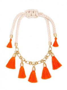 This necklace takes tassels to a whole new level.