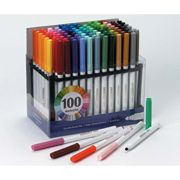 ConsumerCrafts Product Fibra Color Markers - 100 Assorted Colors