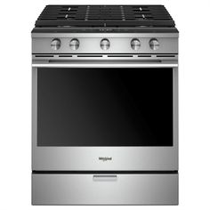 Buy the Whirlpool Fingerprint Resistant Stainless Steel Direct. Shop for the Whirlpool Fingerprint Resistant Stainless Steel 30 Inch Wide Cu. Capacity Slide In Gas Range with Nest Learning Thermostat Integration and Towel Bar Handle and save. Cleaning Oven Racks, Self Cleaning Ovens, Slide In Range, Food Temperatures, Convection Cooking, Oven Cooking, Single Oven, Gas Oven