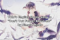 Noragami facts. Anime facts. Yato. Simple Minds. Manga.
