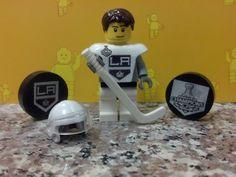 NHL Stanley Cup Champions Custom La Kings Away Kopitar 11 Lego Hockey Minifig Lego Hockey, Hockey Teams, Ice Hockey, La Kings Hockey, Hockey Boards, Stanley Cup Champions, Los Angeles Kings, National Hockey League, Ice Queen