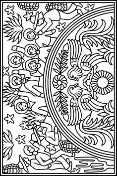 Mexican Designs Stained Glass Coloring Book
