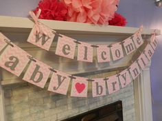 BABY Shower Decorations Welcome Baby Banner Baby by ClassicBanners ...