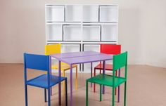 Cadeiras e mesas que encaixam entre elas, 22 ideias de decoração para poupar espaço em apartamentos pequenos - (Page 3)