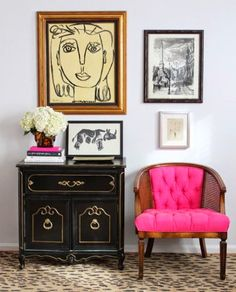 a tufted classic cane chair from the pursuit of style
