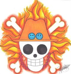 Portegas D. Ace Pirate-Emblem. by LoLoOw
