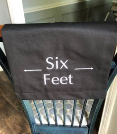 Social Distancing signs six feet sign for church, theater, auditorium, school six feet sign, reopen, reopening Embroidery Fonts, White Embroidery, School Six, Pew Markers, How To Make Signs, Reserved Signs, Charcoal Color, Black Cotton, Signage