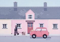 Beaumaris Cottages by Sasha Harding @ Janet Bell Galleries.