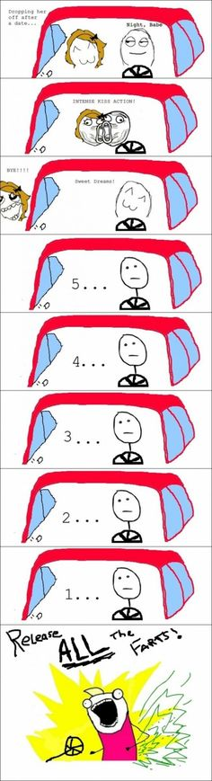 Rage Comic | Your first action once your date leaves the car