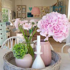 Nyvasket hus og nye blomster God ettermiddag☺