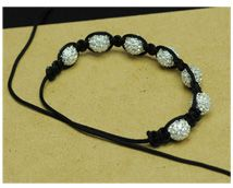 DIY shamballa bead bracelet