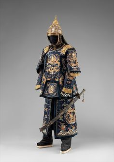 Armor of an Officer of the Imperial Palace Guard, 18th century. Chinese. The Metropolitan Museum of Art, New York. Bequest of George C. Stone, 1935 (36.25.5a–t) #sword