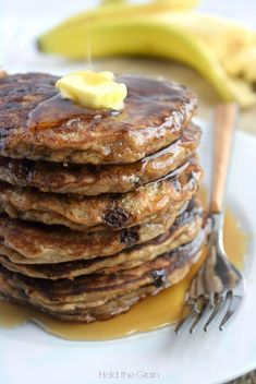 Paleo Banana Bread Pancakes. Yum! And another tasty way to add gelatin to your diet. I like it! -e